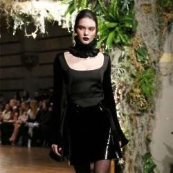Kendall Jenner walks for Giles at LFW