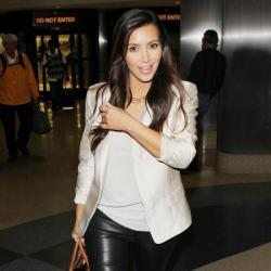 Kim Kardashian looked chic as she headed to the airport