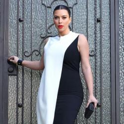 Kim Kardashian stepped out in an on-trend monochrome look