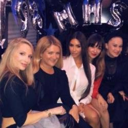 Kim Kardashian West and school friends (c) Instagram