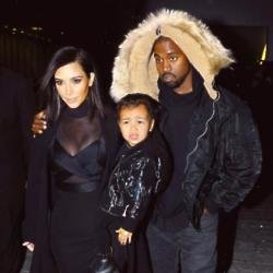 Kim Kardashian, North and Kanye West