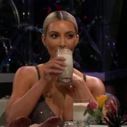 Kim Kardashian West drinks fish smoothie to avoid pregnancy chat