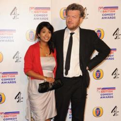 Charlie Brooker with wife Konnie Huq