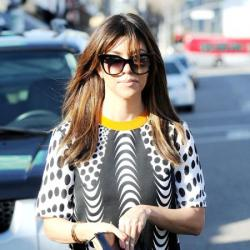 Kourtney Kardashian is a big fan of her Tom Ford cat eye sunglasses