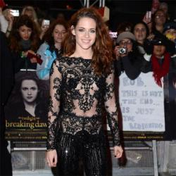 Kristen Stewart chose another risqué outfit for the London première