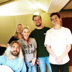 Kylie Minogue's album team (c) DJ Fresh Twitter