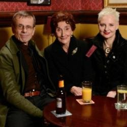 (L-R) Tom Watt, June Brown, Linda Davidson