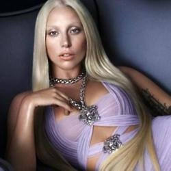 Lady Gaga looks beautiful in the Versace campaign