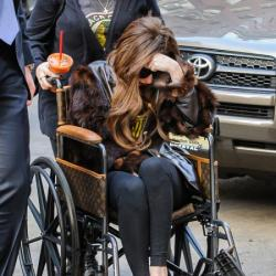 Lady Gaga is currently in a wheelchair