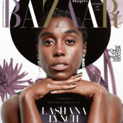 Lashana Lynch on Harper's Bazaar Cover