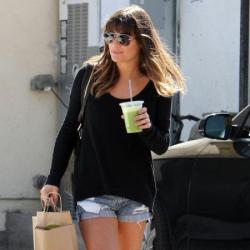 Lea Michele showed off her off-duty style