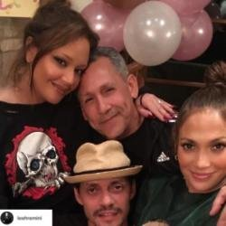 Leah Remini, Angelo Pagan, Marc Anthony and Jennifer Lopez (c) Instagram