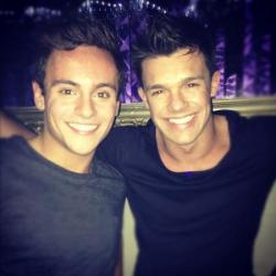 Leandro Penna (R) with Tom Daley