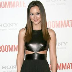 Leighton Meester works the cut-out trend in Michael Kors