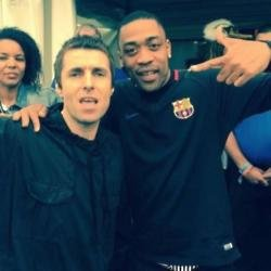 Liam Gallagher and Wiley at Glastonbury (c) Twitter