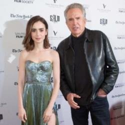 Lily Collins with Warren Beatty
