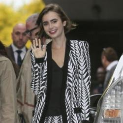 Lily Collins loves Zara and Topshop on the high street