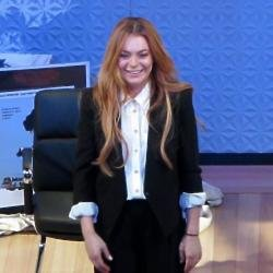 Lindsay Lohan in her stage debut