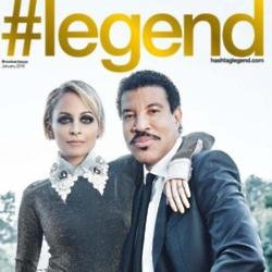 Nicole Richie and Lionel Richie on #legend cover