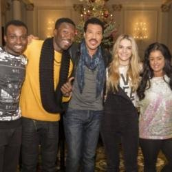 Lionel Richie with The X Factor semi-finalists