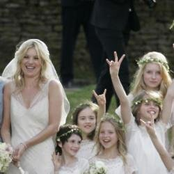 Lottie Moss at Kate Moss' wedding (back right)