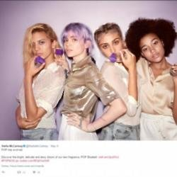 Lourdes Leon in Stella McCartney Pop Bluebell fragrance campaign (c) Twitter