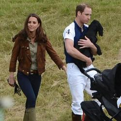 Duchess Catherine, Princes William and Lupo
