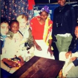 Madonna and family in Africa (c) Instagram
