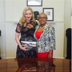 Madonna and Margaret Kenyatta (c) Instagram