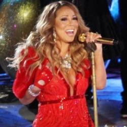 Mariah Carey performs at Rockefeller Center