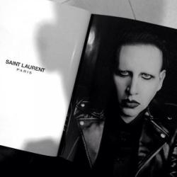 Marilyn Manson Saint Laurent campaign