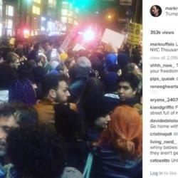Mark Ruffalo, Madonna and Cher join Donald Trump protest