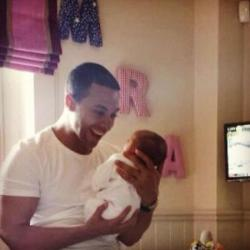 Marvin Humes poses with Alaia