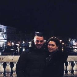 Matt and Emma Willis on Venice Bridge (c) Instagram