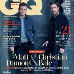 Matt Damon and Christian Bale for GQ