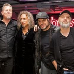Metallica (l-r) James Hetfield, Kirk Hammett, Robert Trujillo and Lars Ulrich