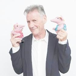 Michael Palin with The Clangers