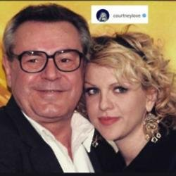 Milos Forman and Courtney Love (C) Instagram