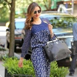 Miranda Kerr favours maxi dresses in the summer months