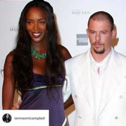 Naomi Campbell and Alexander McQueen (c) Instagram