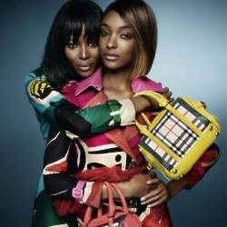 Naomi Campbell and Jourdan Dunn behind-the-scenes of their Burberry campaign