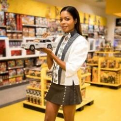 Naomie Harris at the LEGO Store in London