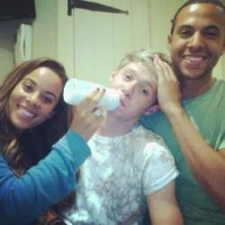 Niall Horan with Rochelle and Marvin Humes