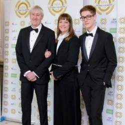 Nicholas Lyndhurst, Lucy Smith and their son Archie Lyndhurst at National Film Awards