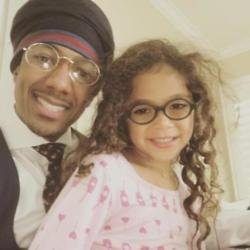 Nick Cannon and his daughter Monroe via Instagram