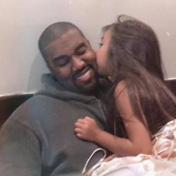 North and Kanye West (c) Twitter