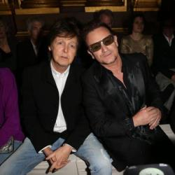 Paul McCartney and Bono at Stella's show