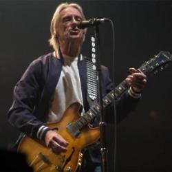 Paul Weller performing at The O2