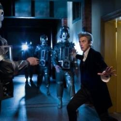 Peter Capaldi with the Cybermen