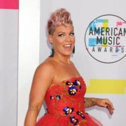 Singer Pink arriving at the AMAs